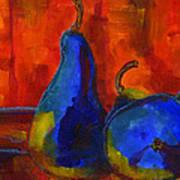 Vivid Pears Art Painting Art Print by Blenda Studio