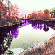 Vivid River Art Print