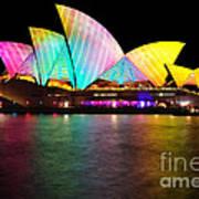 Vivid Sydney 2014 - Opera House 1 By Kaye Menner Art Print