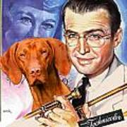 Vizsla Art Canvas Print - The Glenn Miller Story Movie Poster Art Print