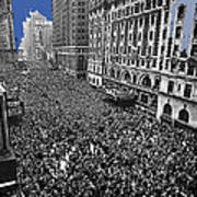 Vj Day Times Square New York City 1945 Color Added 2013 Art Print