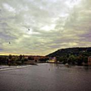 Vltava View Revisited - Prague Art Print