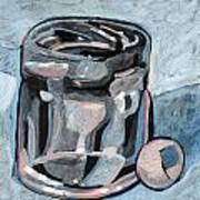 Vodka Shot Glass In Snow  Art Print