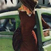 Vogue Cover Featuring A Woman Getting Art Print