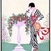 Vogue Cover Featuring A Woman Smelling A Rose Art Print