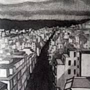 Void City Art Print by Kostas Koutsoukanidis