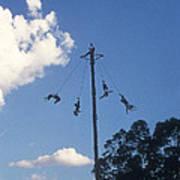 Voladores El Tajin Mexico Art Print