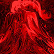 Red Volcanic Dreams Art Print
