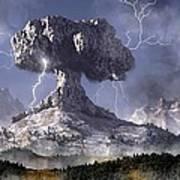 Volcano Art Print