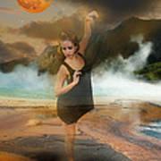 Volcano Goddess Art Print