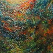 Volcano Under Water Art Print
