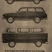 Volkswagen Advertisement Art Print