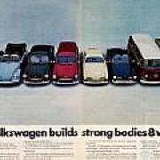 Volkswagen Builds Strong Bodies Eight Ways Art Print