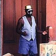 Voodoo Busker In New Orleans Art Print