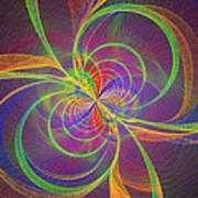 Vortex Abstract Digital Fractal Flame Art Art Print