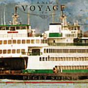 Voyage To Puget Sound Art Print