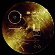Voyager Spacecraft Plaque Art Print