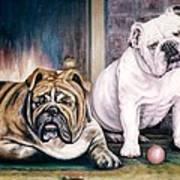 V's Bulldogs Art Print by Melodye Whitaker