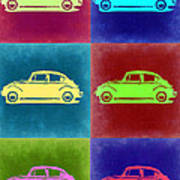Vw Beetle Pop Art 2 Art Print by Naxart Studio