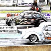 Vw Beetle Race Art Print