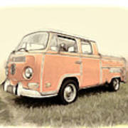 Vw Pickup Art Print