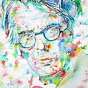 W. B. Yeats  - Watercolor Portrait Art Print