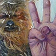 W Is For Wookie Art Print