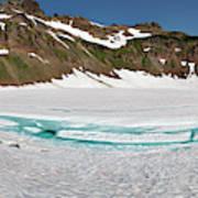 Wa, Goat Rocks Wilderness, Snow And Ice Art Print