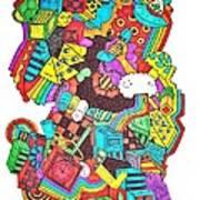 Wackadoo Art Print by Chelsea Geldean
