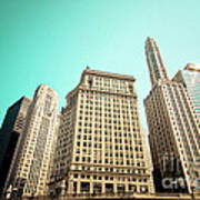 Wacker And Michigan Avenue Chicago Art Print