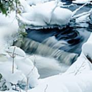 Wagner Creek In Winter Art Print