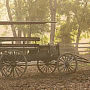 Wagon - Abe's Buggie Art Print by Mike Savad