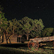 Wagon And Stars 2am 115859and115863_stacked Art Print
