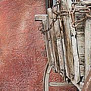 Wagon At The Hacienda Art Print by Robert Bascelli