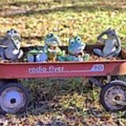 Wagon Full Of Frogs Art Print