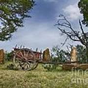 Wagon-hill Country Texas V2 Art Print