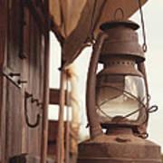 Wagon Lantern Art Print