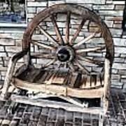 Wagon Wheel Chair Art Print