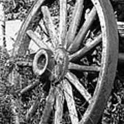 Wagon Wheel - No Where To Go - Bw 01 Art Print