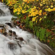 Wahkeena Falls At Columbia River Gorge In The Fall Art Print