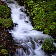 Wahkeena Falls In Oregon Art Print