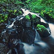 Wahkeenah Falls Columbia River Gorge Nsa Oregon Art Print