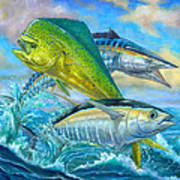 Wahoo Mahi Mahi And Tuna Art Print