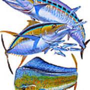Wahoo Tuna Dolphin Art Print