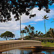 Waialae Beach Park Bridge Too Art Print