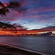 Waialua Sunset Art Print