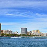 Waikiki And Diamond Head From The West Art Print