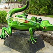 Waikiki Gecko Art Print