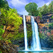 Wailua Falls Kauai Art Print