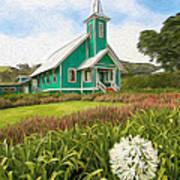 Waimea Church Art Print